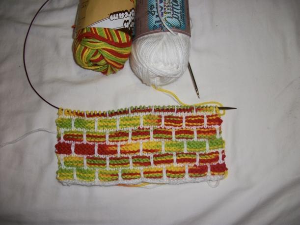 fiesta ballband half knitting frog me knot