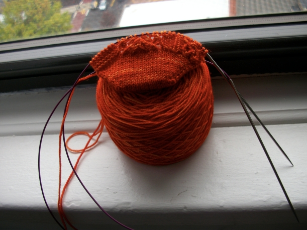 mirror sock knitting frog me knot