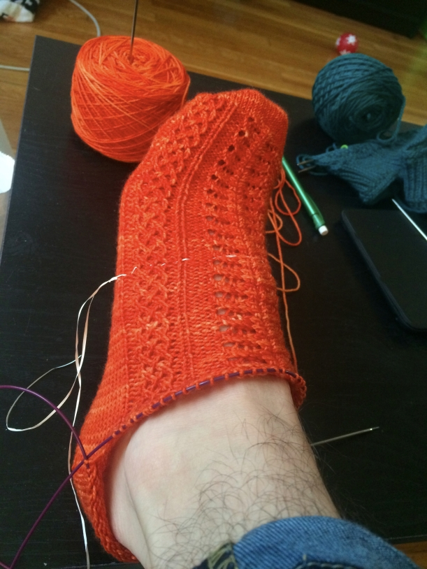 mirror socks mistake 1 knitting frog me knot