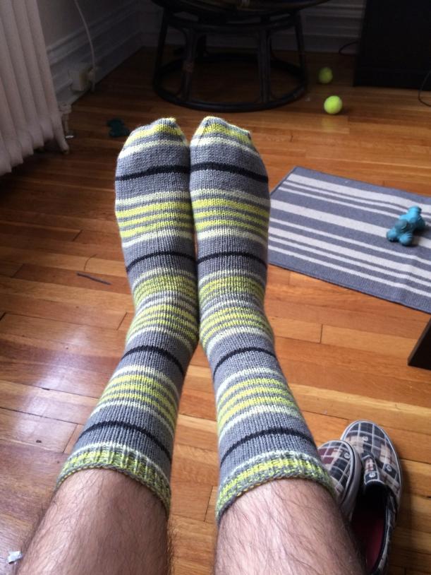 spring leaf stripes socks 2 knitting frog me knot